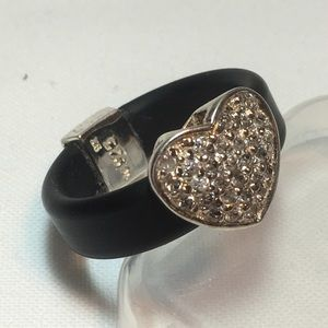 925 Silver Heart Ring - Size 7.5